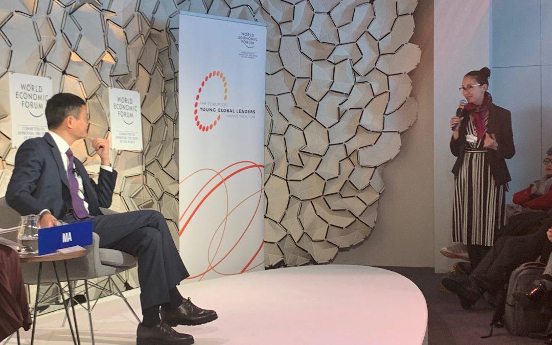 Jack Ma y los emprendedores de Davos